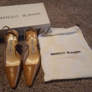 Manolo Blahnik sling back heels